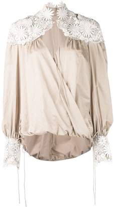 Rosie Assoulin floral embroidered details blouse