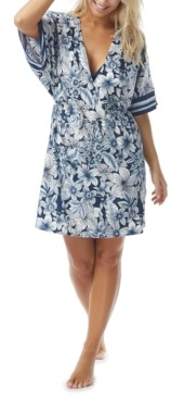 CoCo Reef Luxe Floral-Print Swim Cover-Up Dress Women's Swimsuit
