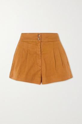 Vanessa Bruno Nessa Stretch-linen And Cotton-blend Shorts - Tan