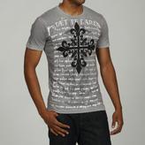 Pop Icon Men's Grey Cotton Graphic Print Tee