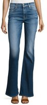 7 For All Mankind High-Waist Vintage Boot-Cut Jeans, Bright Indigo