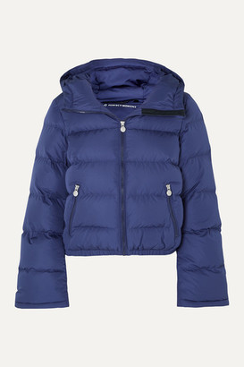 Perfect Moment Polar Flare Hooded Quilted Down Ski Jacket - Blue