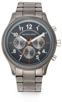 Saks Fifth Avenue Grey Stainless Steel Watch