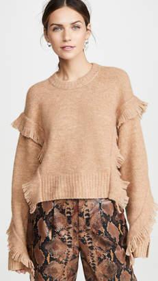 3.1 Phillip Lim Cropped Fringe Sleeve Sweater