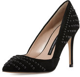 French Connection Elmyra Studded d'Orsay Pump, Black