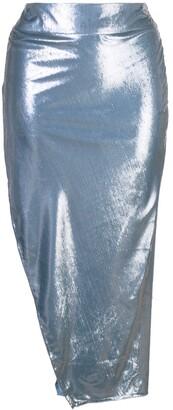 Mason by Michelle Mason Side Slit Skirt