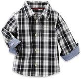 Oshkosh Baby B'gosh® Plaid Shirt in Black/Ivy