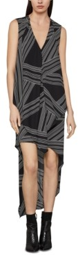 BCBGMAXAZRIA Abstract-Print High-Low Dress