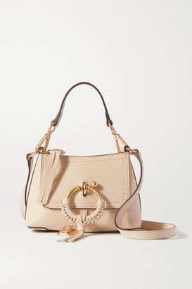 See by Chloe Joan Mini Textured-leather Shoulder Bag - Beige