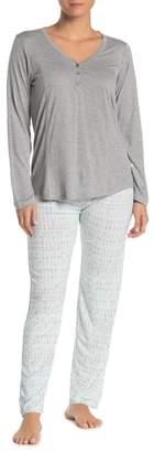 Jessica Simpson Watercolor Diamond Pajama Pants