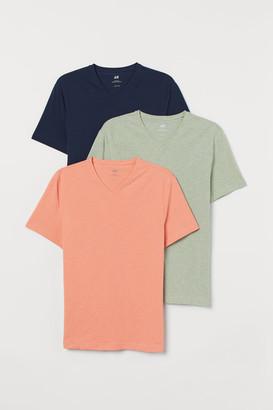 H&M 3-pack Slim Fit T-shirts - Orange