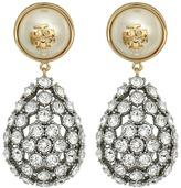 Tory Burch Crystal Pearl Statement Earrings Earring