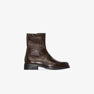 Our Legacy green Camion leather boots