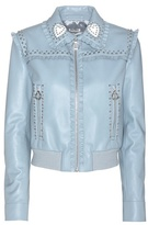 Miu Miu Embellished Leather Jacket