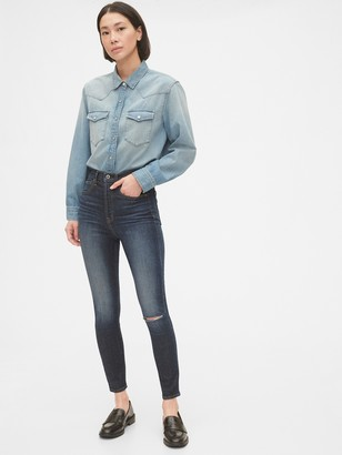 Gap 1969 Premium Sky High Rise True Skinny Ankle Jeans