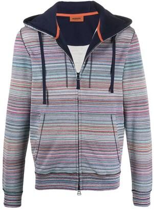 Missoni Striped Drawstring Hoodie