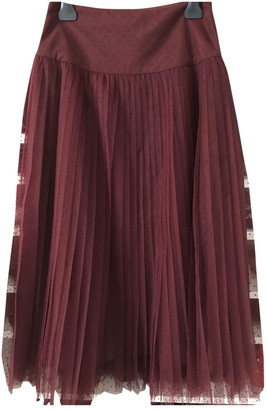 Christian Dior Burgundy Synthetic Skirts
