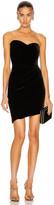 Brandon Maxwell Bustier Strapless Mini Dress in Black | FWRD