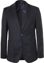 HUGO BOSS Blue Nordon Slim-Fit Birdseye Wool Blazer