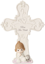 Precious Moments Baby Girl Cross Figurine