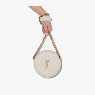 Saint Laurent white Jade quilted leather shoulder bag