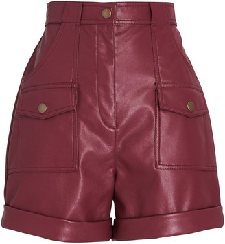 Philosophy di Lorenzo Serafini High-Rise Faux Leather Shorts