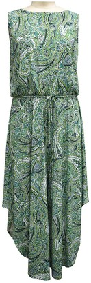 London Times Paisley Sleeveless Crop High/Low Jumpsuit