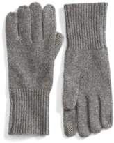 Halogen Women's Rib Knit Cashmere Gloves