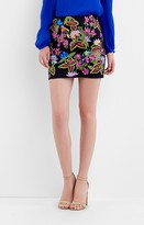Nicole Miller Whimsical Jungle Mini Skirt