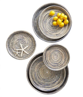 Set of 6 Nested Woven Trays