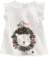 First Impressions Lion-Print Cotton T-Shirt, Baby Girls (0-24 months), Only at Macy's