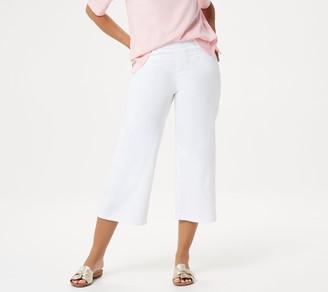Martha Stewart Petite Knit Denim Pull-On Culotte Jeans