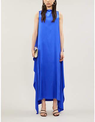 BERNADETTE Judy square-neck silk-blend maxi dress