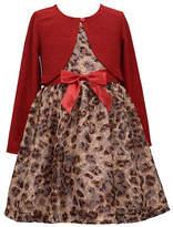 Bonnie Jean Girls Short Sleeve Dress Set, 14 , Red