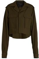 Haider Ackermann Raw-edge wool cropped jacket