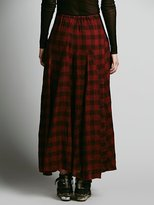 Free People CP SHADES Sienna Plaid Maxi Skirt