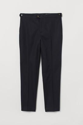 H&M Slim Fit Linen-blend Chinos - Black