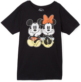 Jerry Leigh Minnie & Mickey Mouse Black Classic Pair Tee - Juniors