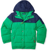 Ralph Lauren Boys 8-20 Two-Tone Quilted Down Jacket