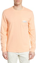 Southern Tide Center Console Long Sleeve Pocket Graphic Tee