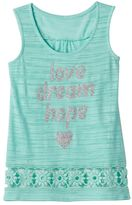 Miss Chievous Girls 7-16 Crochet Hem Slubbed Tank