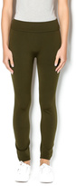 Anémone Olive Highwaisted Fleece Leggings
