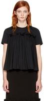 Edit Ssense Exclusive Black Gathered T-shirt