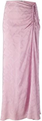 Jean Louis Scherrer Pre-Owned Draped Drawstring Skirt