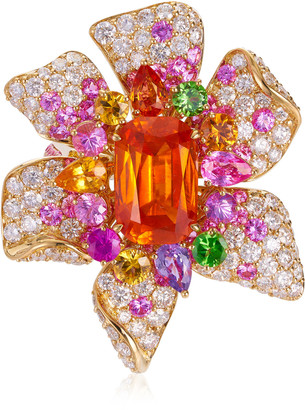 Margot McKinney One of a Kind Nasturium Mandarin Garnet Ring