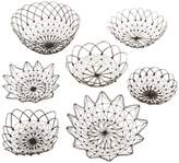 Twos Company Marrakesh Wire Baskets (Set of 7)