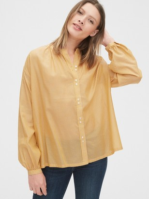 Gap Double Button Long Sleeve Top