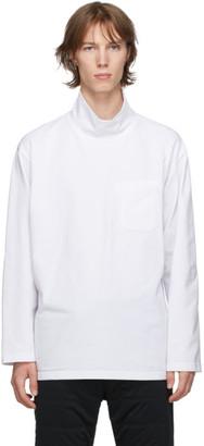 Engineered Garments White Mock Neck Long Sleeve T-Shirt