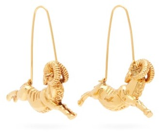 Givenchy - Aries Zodiac Hoop Earrings - Womens - Gold