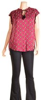 Lucky Brand Women's Raspberry Geo Top